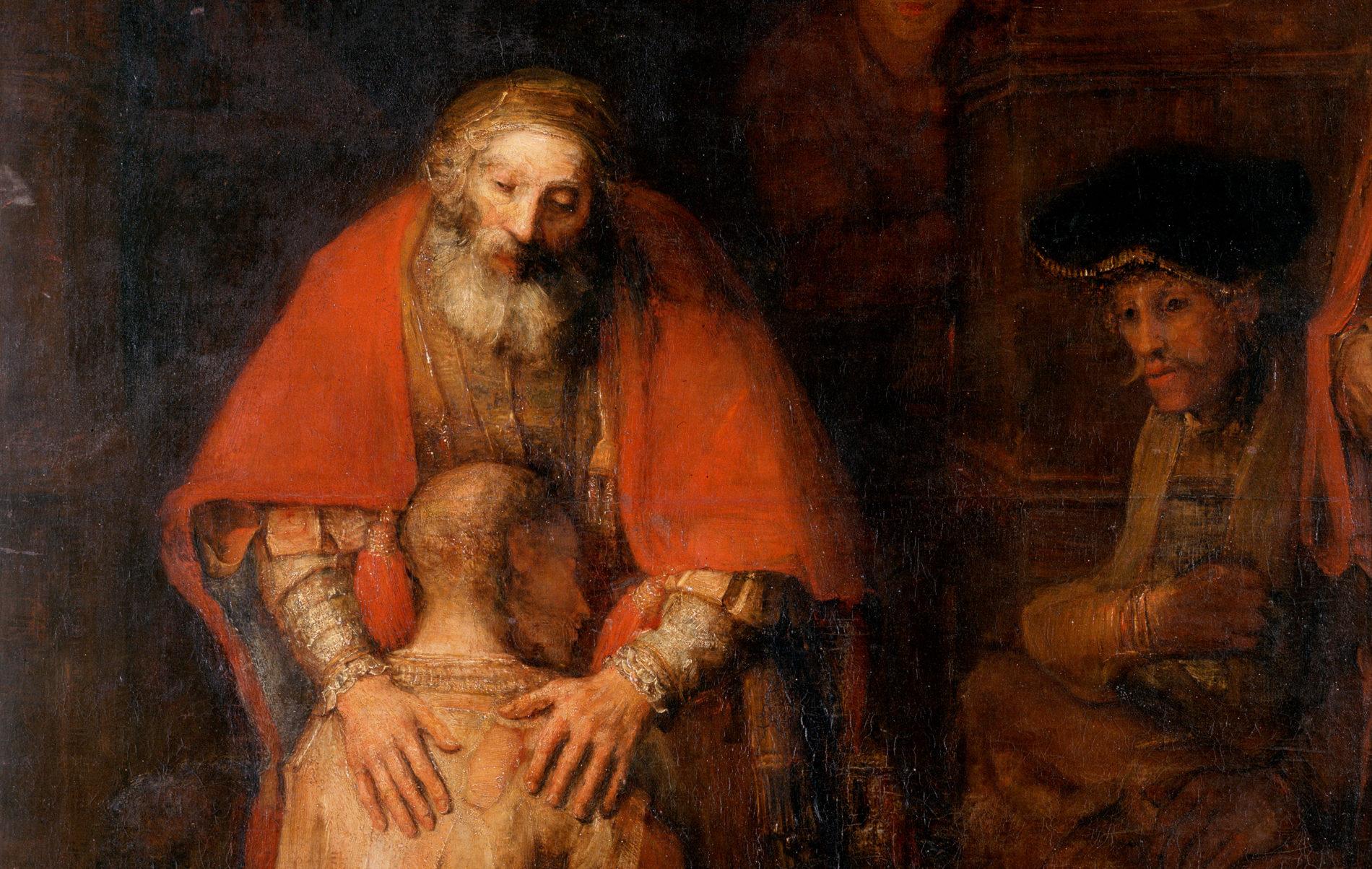 親子の絆と再会の喜びを描く レンブラント「放蕩息子の帰還」