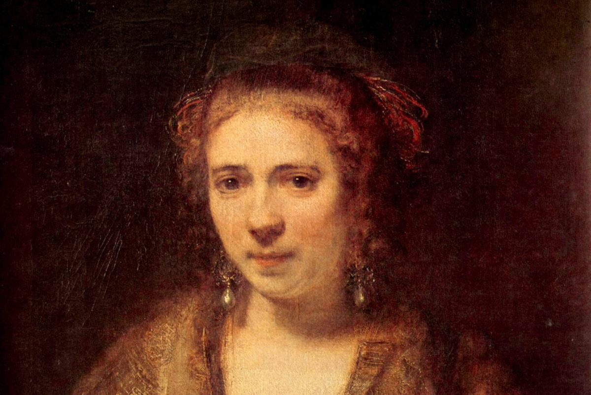 哀しみの奥に潜む微笑 レンブラント『ヘンドリッキェの肖像(1654)』
