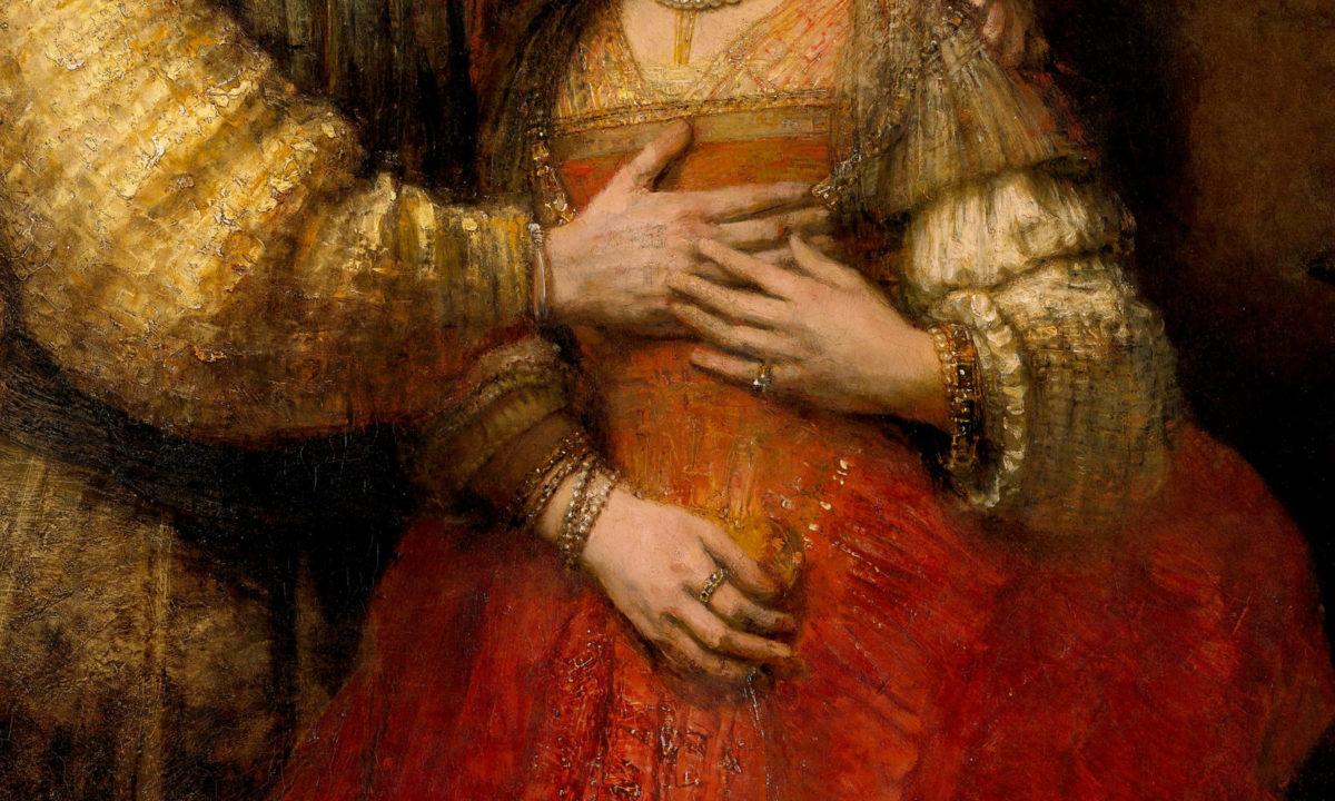 叡智の眼が光る・巨匠晩年の大傑作 レンブラント「ユダヤの花嫁(イサクとリベカ)」