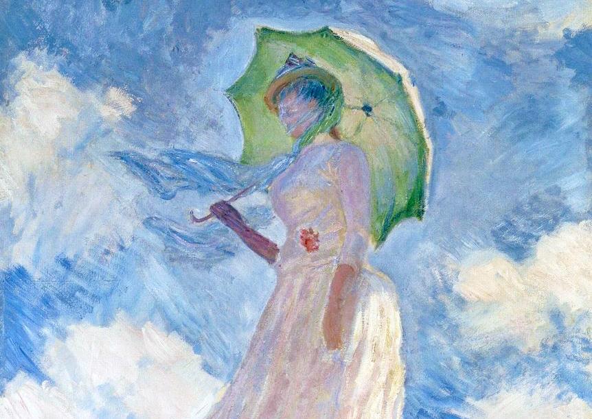 光と風が美しいハーモニーを奏でる モネ「日傘の女・左向き(1886年)」