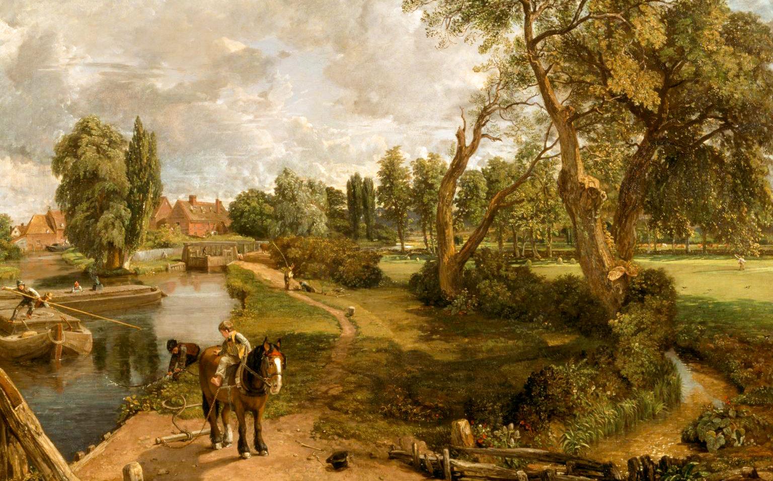 穏やかで美しい自然の情景 コンスタブル「フラットフォードの製粉場」(1816-17)