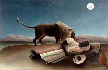 シリアスなテーマがファンタジックな世界に! ルソー「眠るジプシー女」