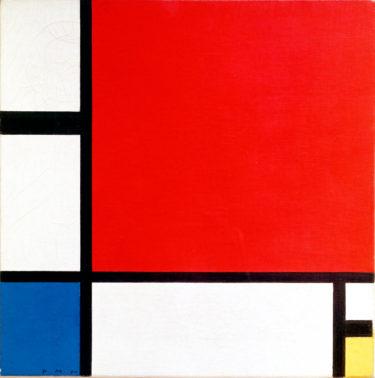 宇宙の調和は抽象表現がすべて! モンドリアン『赤・青・黄のコンポジション』