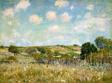 みずみずしい感性が心地いい! 穏やかな空気が流れる絵 シスレー『草原』