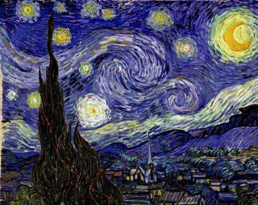 幻覚に悩まされつつ崇高な世界を表現 ゴッホ『星月夜』