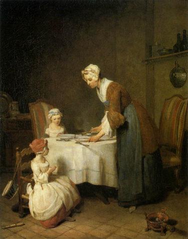 古典的な様式美の中にあふれる愛情とユーモア シャルダン『食前の祈り』