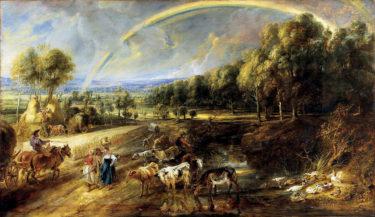 人間と苦楽を共にし、寄り添う自然の姿を描く! ルーベンス「虹のある風景」